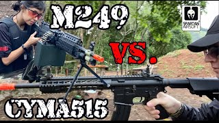 Supressão TOTAL! Airsoft M249 Vs. M4 CYMA515 - GAME ÉPICO!