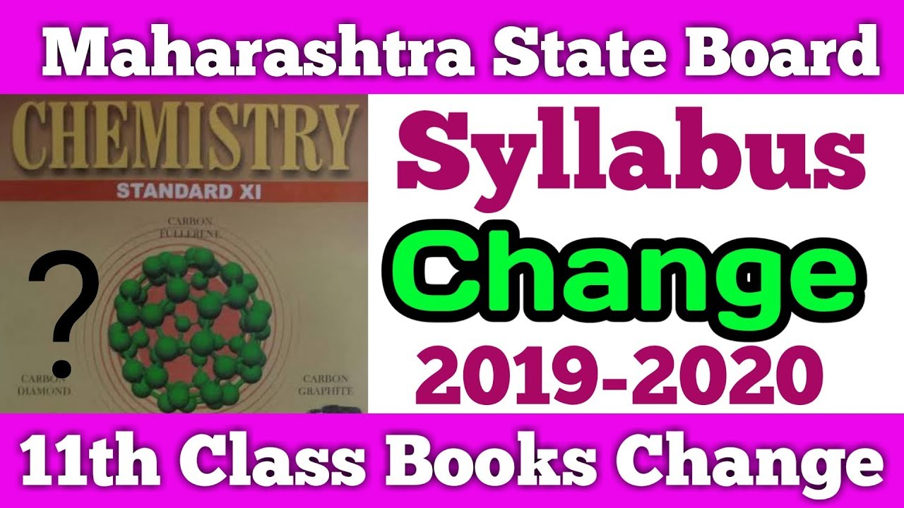 Change in Syllabus & Books from 2019-2020 | Maharashtra Board | Dinesh Sir