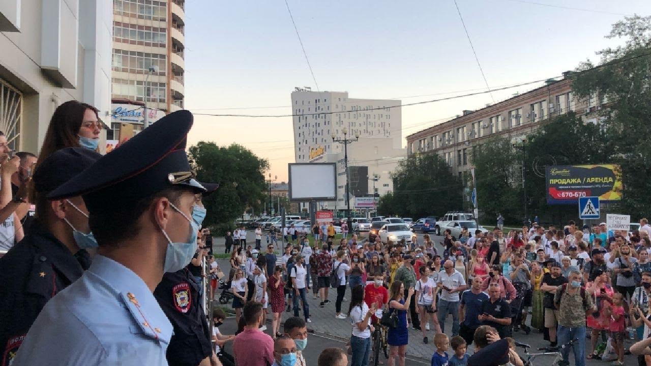 Протесты в Хабаровске в поддержку губернатора Сергея Фургала продолжаются / LIVE 29.07.20