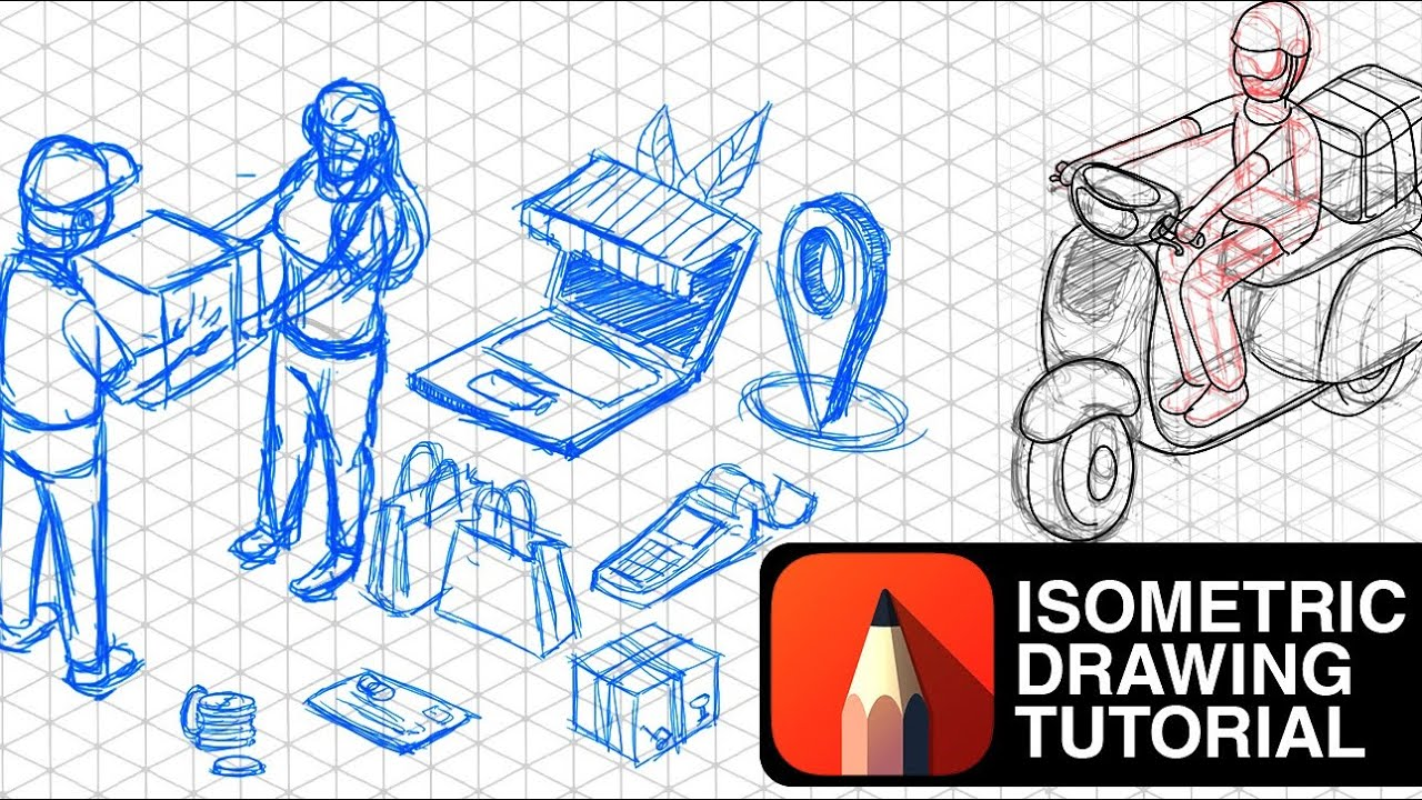 Isometric Drawing Tutorial How To Generate Isometric Design Ideas Using Isometric Grid Arttutor Youtube