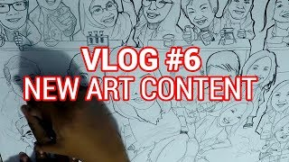 VLOG #6 - INKING MY ARTWORK (PART 1) + LAME NEW INTRO