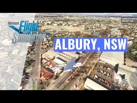 Flight Simulator 2020 Australia - ALBURY (By Request), Can U Spot Your House? [EXTREME BEGINNER!]
