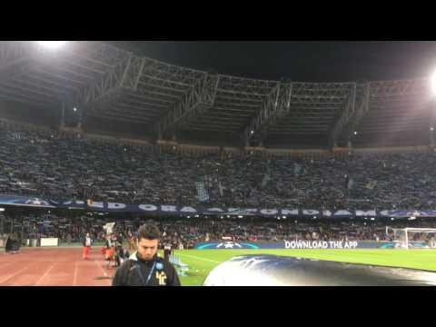 Napoli Real Madrid a fine partita (Stadio San Paolo)