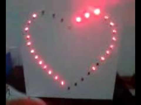 Led trái tim 8051 mạch led trái tim đơn giản