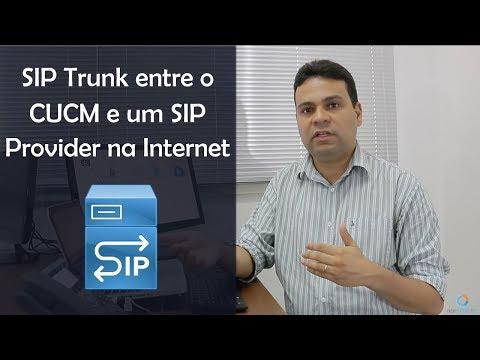 SIP Trunk Entre O Servidor CUCM E Um SIP Provider Na Internet