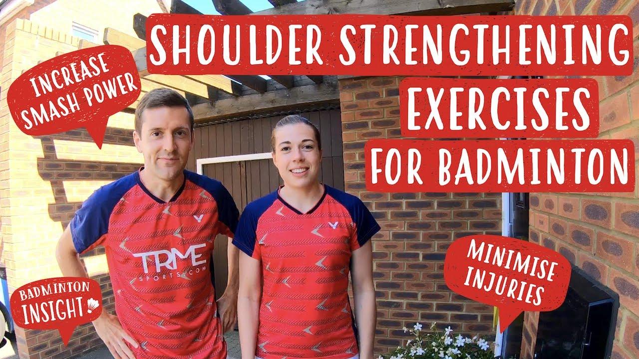 SHOULDER STRENGTHENING EXERCISES FOR BADMINTON | 'At Home Badminton Training'