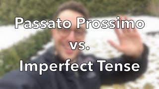 The Italian Passato Prossimo VS. Imperfetto (+ English Lesson)