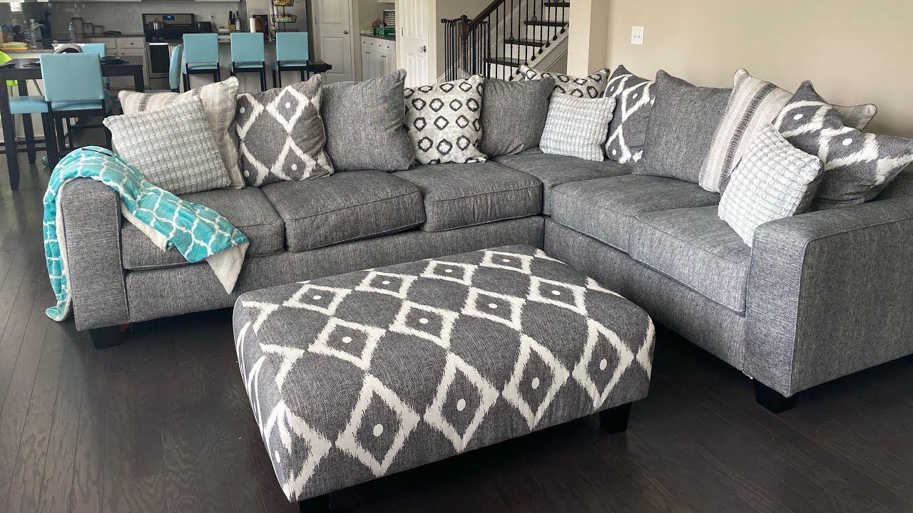 carole court gray sleeper sectional and