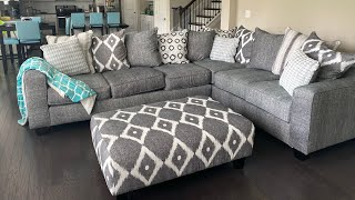 Rooms To Go Review: Carole Court Gray Sleeper Sectional