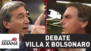 Qual foi o placar? Villa e Bolsonaro protagonizam debate intenso | Jornal da Manhã