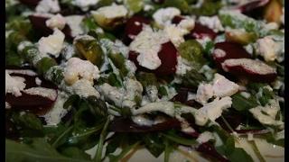 Юлия Высоцкая — Салат из запеченной свеклы, спаржи и брюссельской капусты