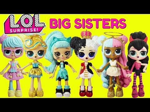 LOL SURPRISE BIG SISTER COMPILATION Bon Bon, Luxe, Heartbreaker, Troublemaker, Sugar, Spice