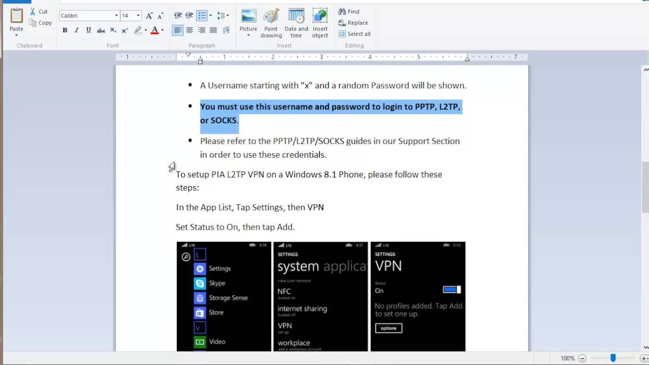 Private internet access on windows phone