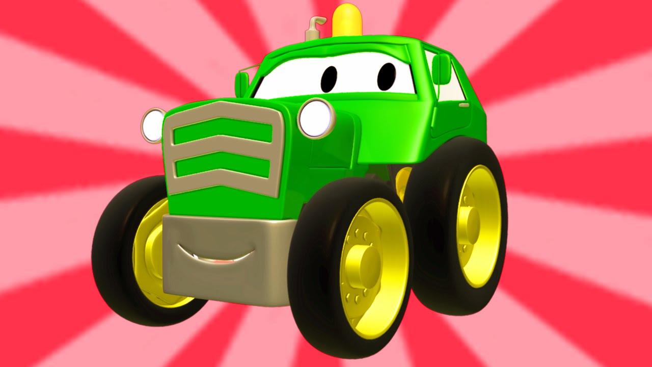 Tom La Grúa Y La Super Patrulla Con Tractores Autos Y Camiones En Auto City Dibujos Animados Youtube