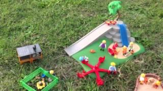 Les enfants playmobil vont au parc avant d'aller dormir