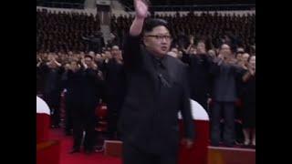 بالفيديو...كيم جون أون يحتفل بإطلاق الصاروخ البالستي