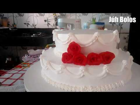 Decoração bolo de casamento