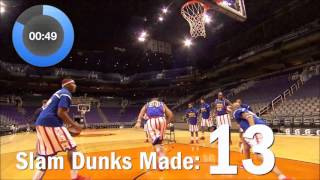 World Record for Most Basketball Slam Dunks in One Minute! | Harlem Globetrotters