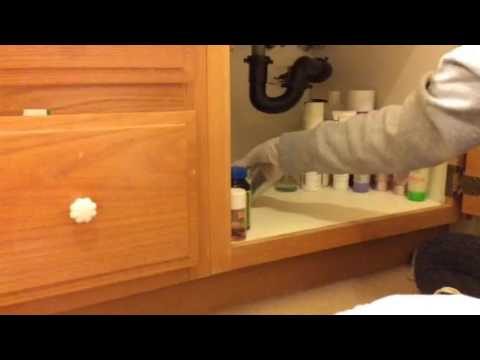 ASMR Cleaning Organizing Bathroom Cupboard Part 2 No Talking No Tapping