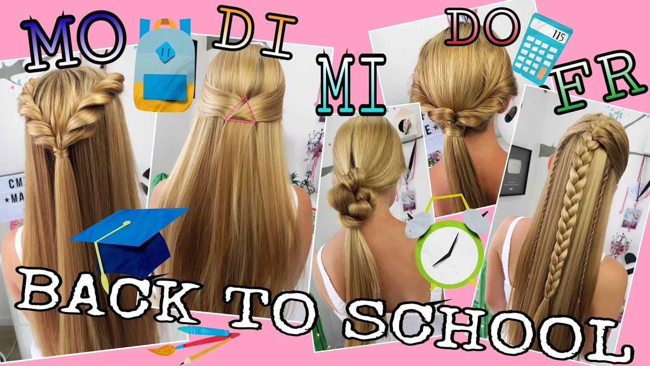 Back To School 2017 Schnelle Einfache Frisuren Coole Mädchen Zf