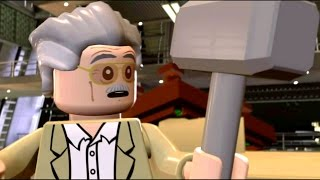 Stan Lee Lifts Thor's Hammer | Ultron Final Cut Scene - LEGO Marvel's Avengers (1080p)