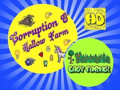 Terraria Easy Hallowed, Corruption & Crimson Farm   1.3 Farms