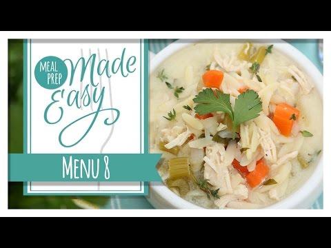 Healthy Meal Prep | Menu 8 | Mediterranean Stuffed Chicken, Orzo Salad & Spanakopita