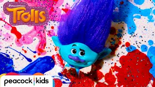 Branch Makes A Masterpiece at the Trolls Hugs & Crafts Party | TROLLS TOYMOTION