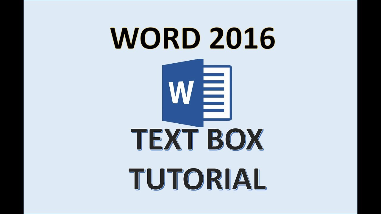 Word 2016 - Text Box - How To Insert Edit Use and Move Text Boxes in  Microsoft MS Word Office 365