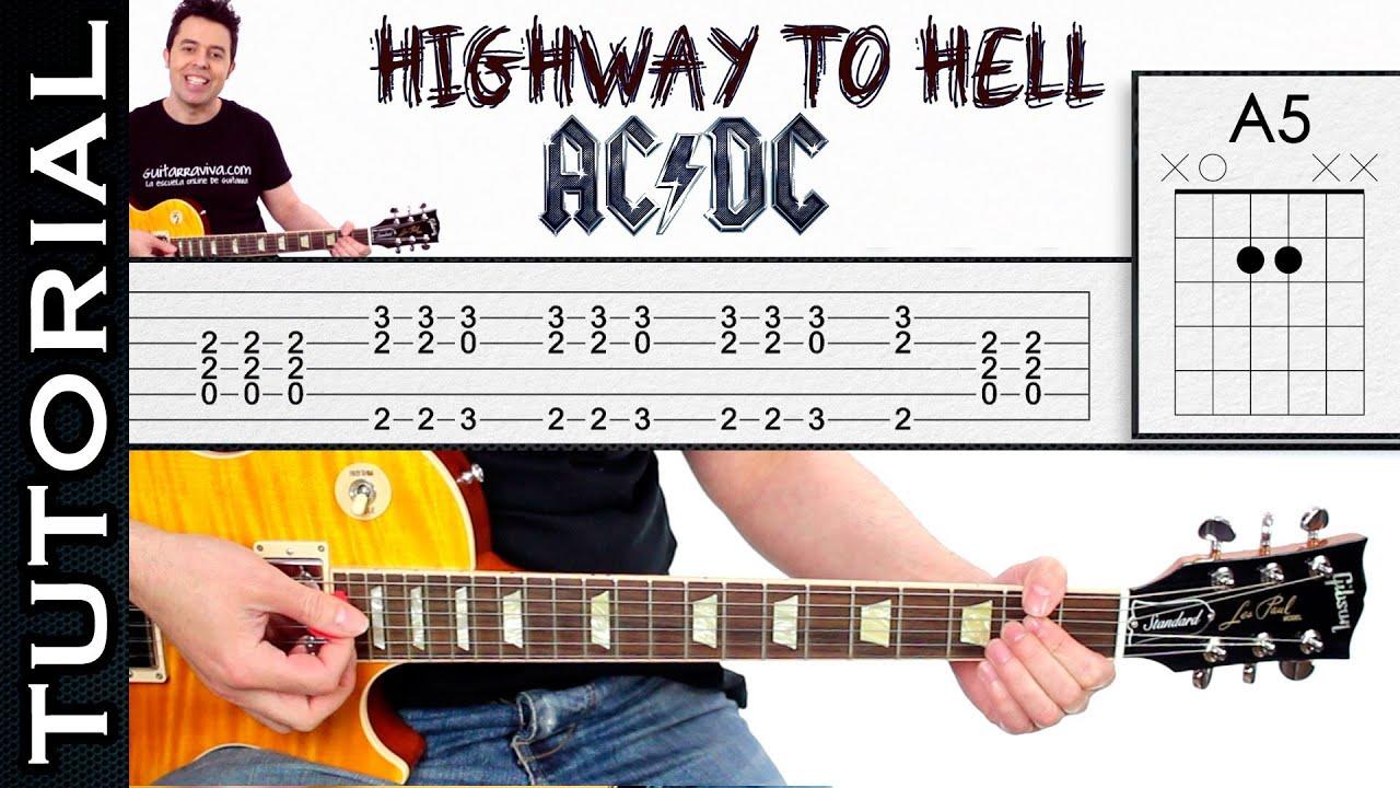 como tocar highway to hell de ac dc tutorial f cil para cualquier guitarra youtube. Black Bedroom Furniture Sets. Home Design Ideas