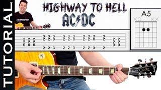 Como tocar Highway To Hell de AC DC tutorial fácil para cualquier guitarra