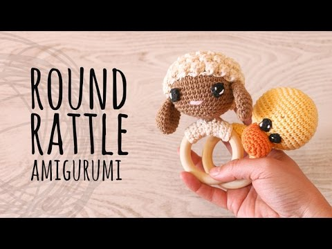 Crochet baby rattle teething ring pattern | 360x480