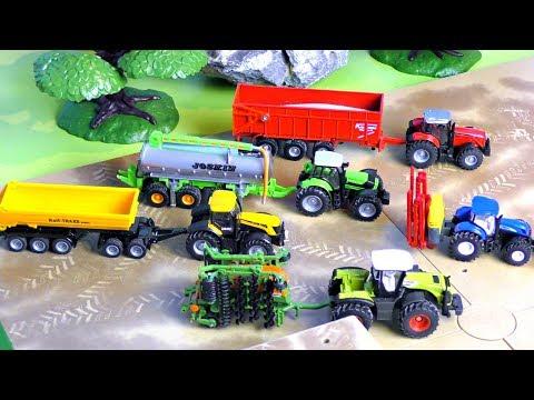 Trecker & Traktoren - Bauernhof Fahrzeuge - Bauernhof Kinder - Farm Vehicles for Kids