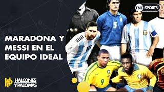 MARADONA y MESSI en el 11 ideal de France Football