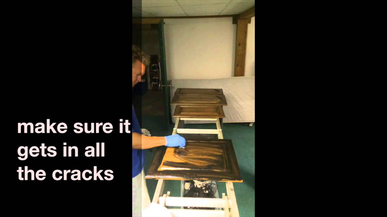 Merveilleux Glazing,staining Your Old Honey Oak Cabinets Darker   YouTube