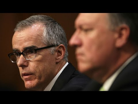 Ex-FBI deputy director McCabe says he was fired over Russia inquiry