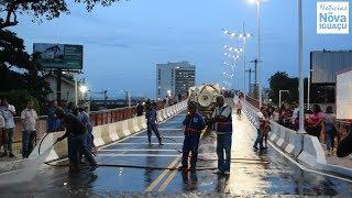 Viaduto no Centro de Nova Iguaçu é reinaugurado