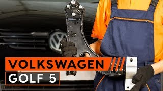Byta Länkarm hjulupphängning bak och fram på VW GOLF V (1K1) - videoinstruktioner