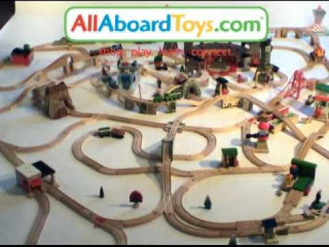 Huge Thomas Wooden Train Set! - YouTube