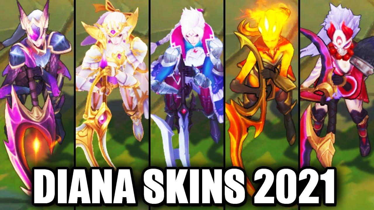 All Diana Skins Spotlight (League of Legends)