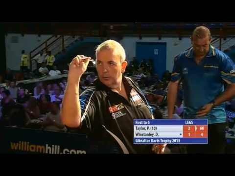 THIS IS BAD : Phil taylor Cheating - Gibraltar Darts Trophy