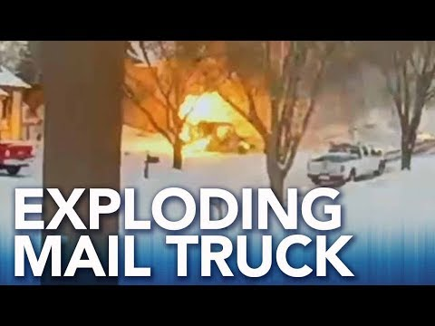 A.D. - Mail Truck Catches Fire and Rolls Down a Neighborhood Street