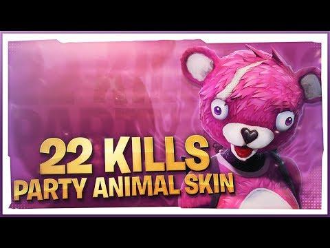 22 KILLS! Party Animal SKIN! (Fortnite Battle Royale)