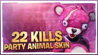 22 KILLS! Party Animal SKIN! (Fortnite Battle Royale)