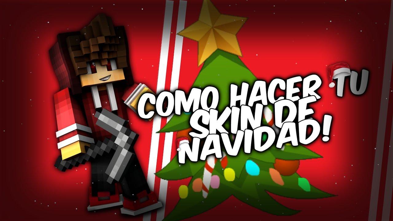 Como Crear Tu Skin De Navidad Tutorial Para Minecraft Pe YouTube - Skin para minecraft pe de navidad