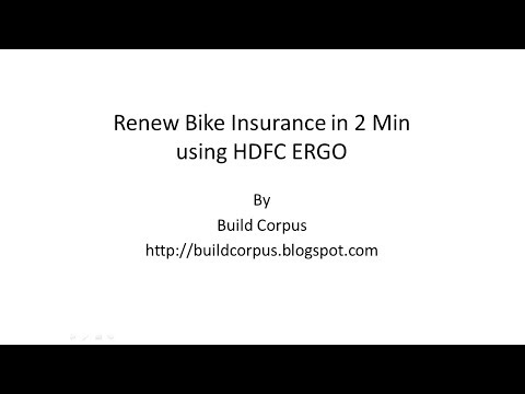 HDFC ERGO - Renew Bike Insurance in 2 Min from other Insurers