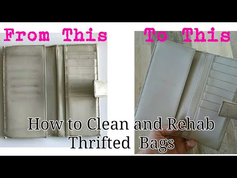 How I Clean Thrifted  Luxury Bags and Accessories