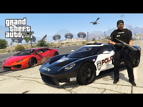 GTA 5 Mods - PLAY AS A COP MOD!! GTA 5 Police Ford GT LSPDFR Mod! (GTA 5 Mods Gameplay)