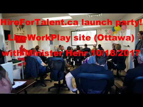 Hire for Talent launch party with Honourable Minister Kent Hehr