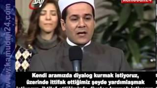 Mısır'da bir imamın, kilisede ayakta alkışlanan konuşması